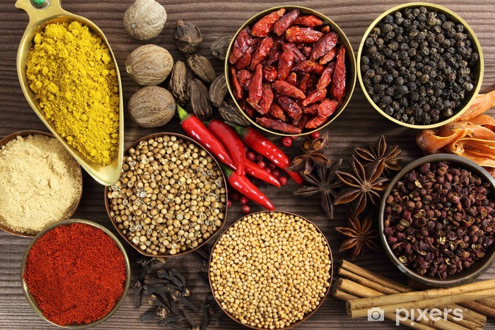 Spices and herbs Vinyl Wall Mural - iStaging