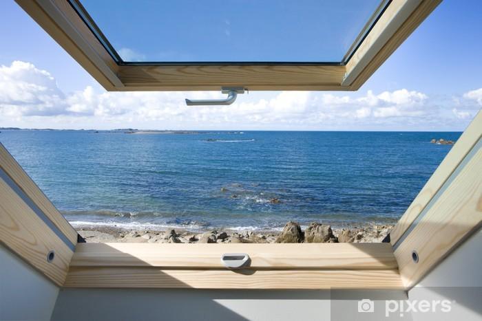 Vinyl-Fototapete Dachfenster - Private Gebäude