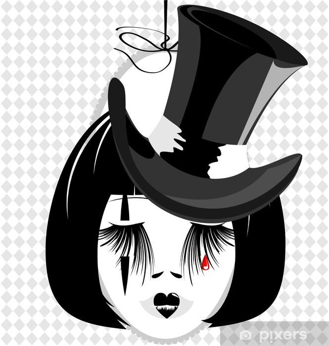 Fotomural Imagen de una dama con sombrero negro • Pixers® - Vivimos ... e5344c51162