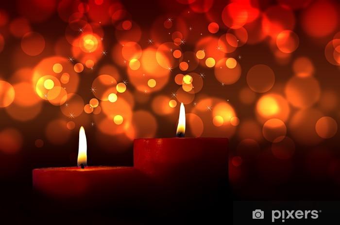 Polttamalla kynttilöitä Pixerstick tarra - Kansainväliset Juhlinnat