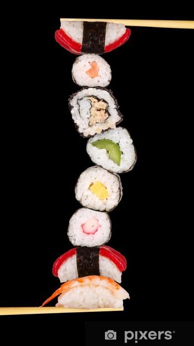 Vinyl-Fototapete Maxi Sushi, isoliert auf weißem Hintergrund - Sushi