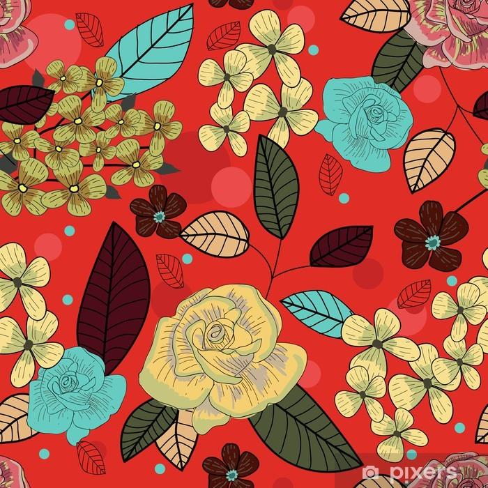 Sticker Pixerstick Seamless floral texture - Arrière plans