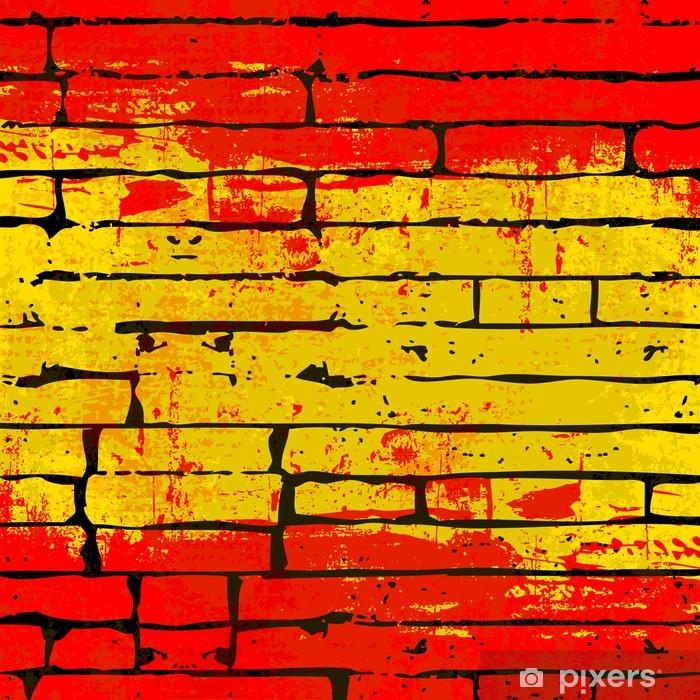 Poster Spanisch Brick Wall Hintergrund - Themen