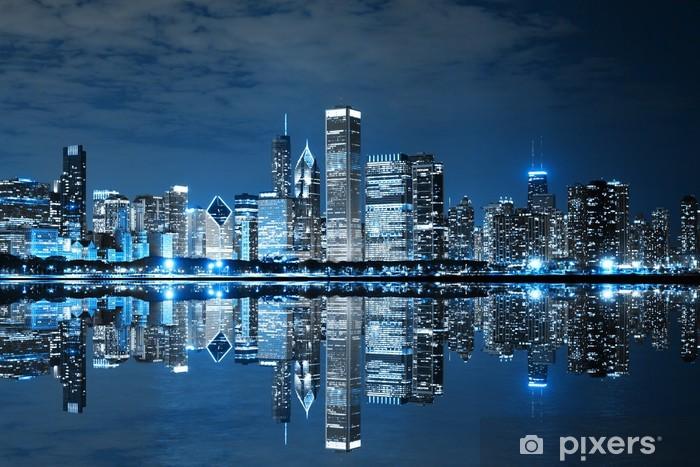 Vinilo Pixerstick Chicago en la noche - Temas