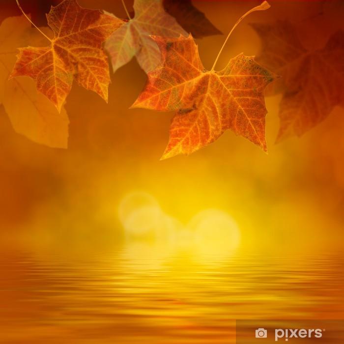 Sticker Pixerstick Autumn leaf - Saisons