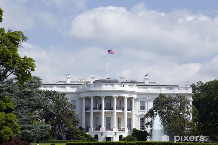 Vinyl-Fototapete Weißes Haus in Washington - Nordflügel mit blauem Himmel - Amerikanische Städte