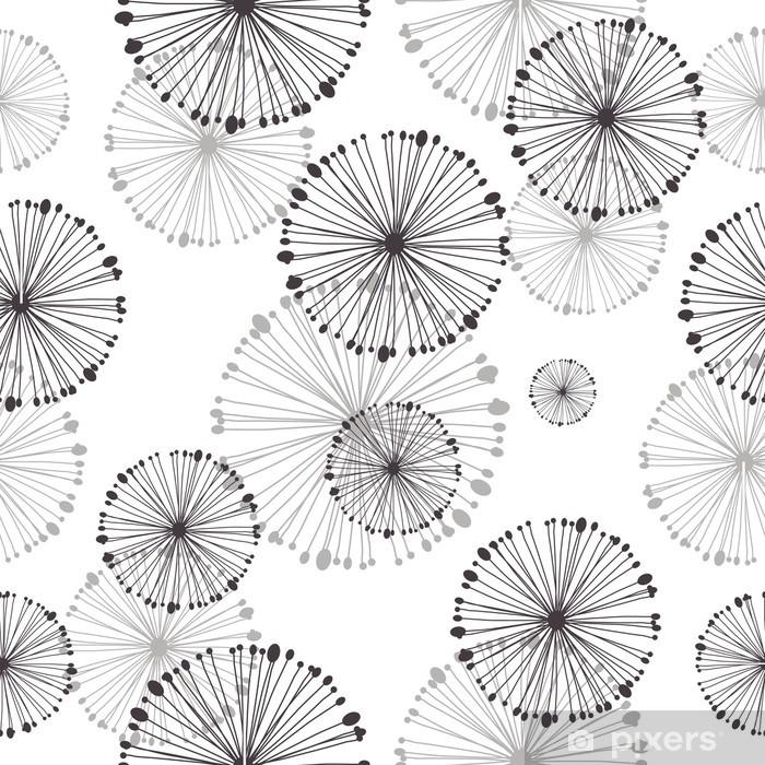 seamless pattern of dandelion Pixerstick Sticker - Styles