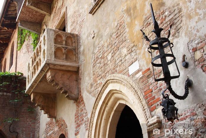 Pixerstick Aufkleber Julias Balkon (Verona, Italien) - Europa
