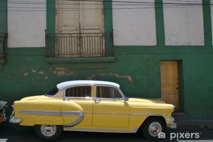 Vinyl-Fototapete Kuba, Oldtimer in Santiago de Cuba - Schwerindustrie