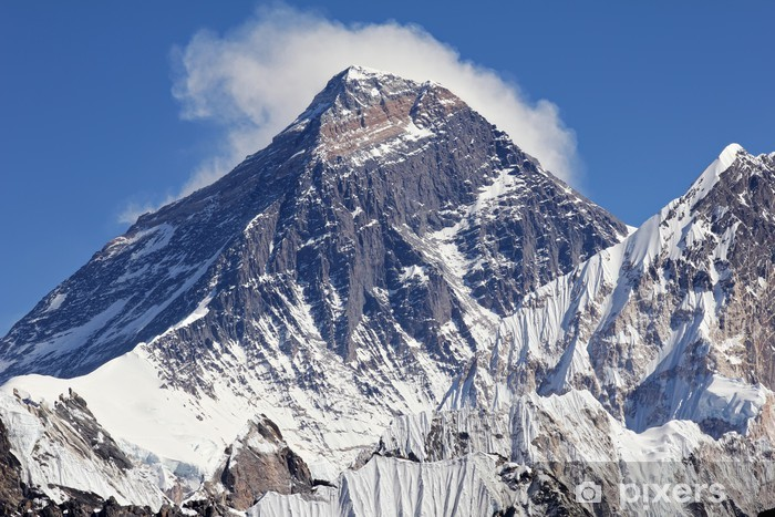 Snow Topped Peak Of Mount Everest Wall Mural Pixers