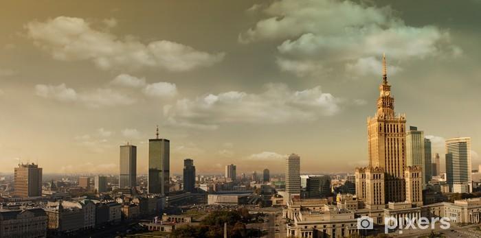 Vinilo Pixerstick Varsovia panorama - Temas