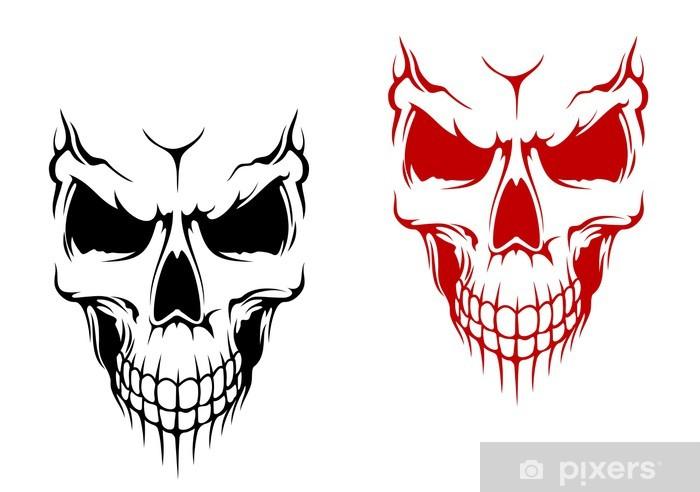 Sticker Pixerstick Sourire crâne - Vie