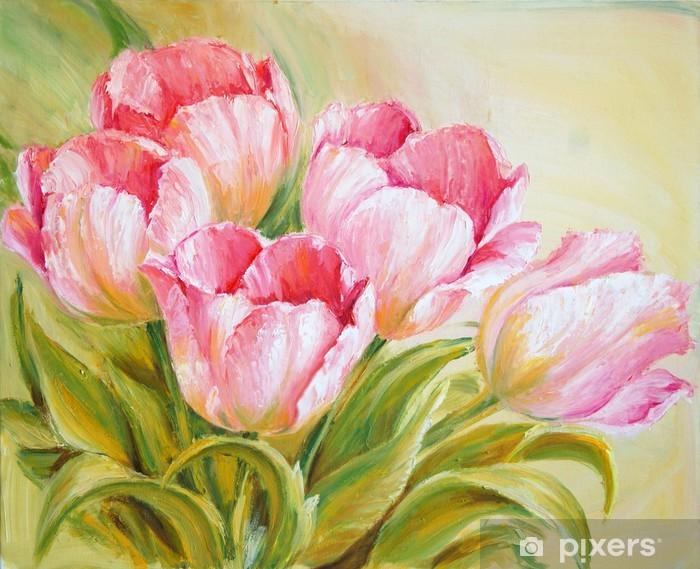 Fototapeta winylowa Obraz olejny tulipany - Style