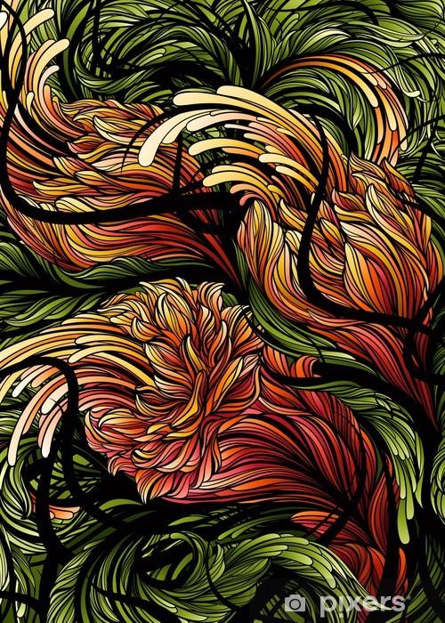 Vinyl-Fototapete Blumen. Abstrakt swirly Hintergrund. Vektor-Illustration. - Blumen