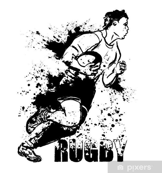 Fotomural Estándar Grunge de rugby - Rugby