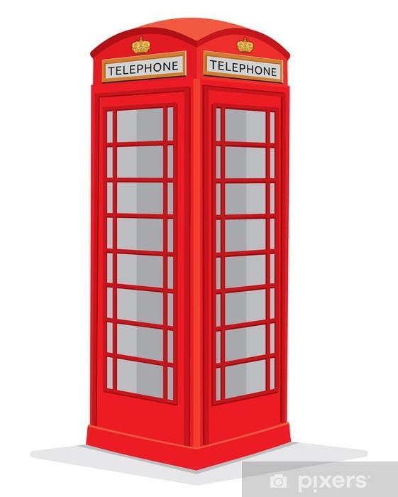 Fototapeta winylowa Red Box Telefon London - Tła
