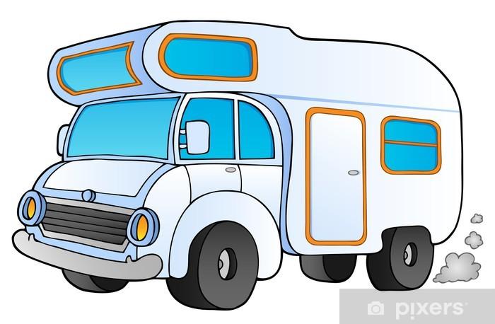 Fototapeta winylowa Cartoon kemping van - Transport drogowy
