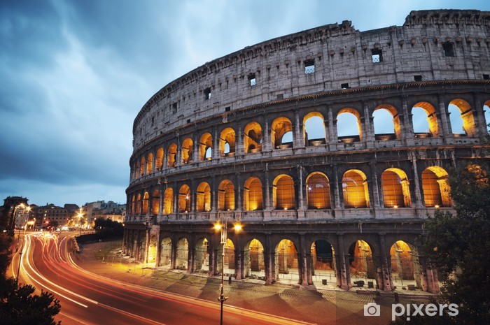 Coliseum at night. Rome - Italy Vinyl Wall Mural -