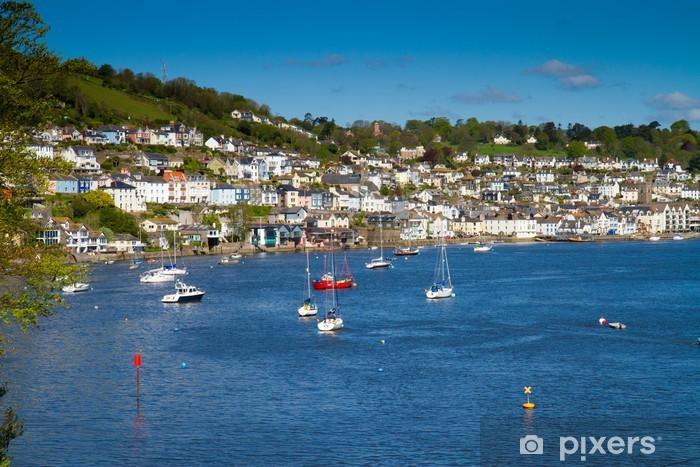 Sticker Pixerstick La ville historique naval de Dartmouth dans le Devon - Europe