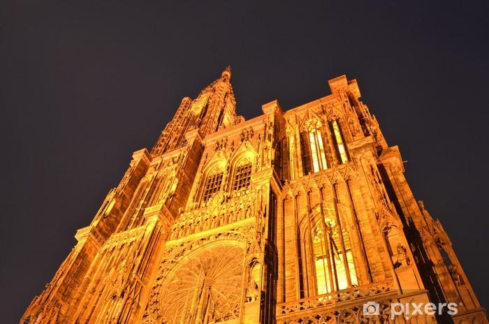 Naklejka Pixerstick Katedra Najświętszej Marii Panny w Strasburgu - Europa