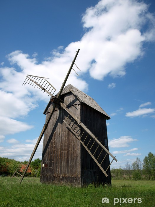 Vinyl-Fototapete Windmill in Bialowieza 6 - Europa