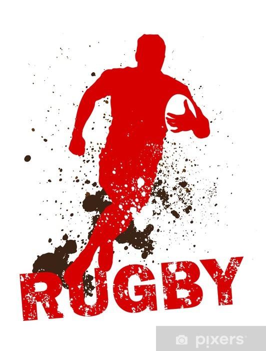 Papier peint vinyle Sale joueur de rugby - Rugby