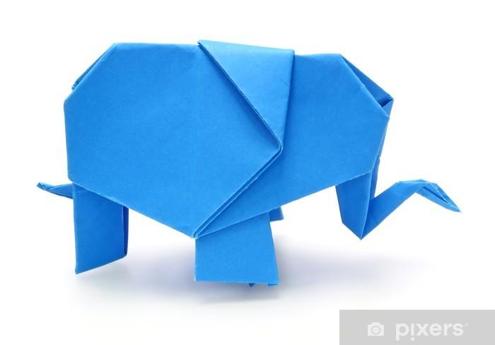 Papier Peint Origami Elephant Bleu Pixers Nous Vivons Pour Changer