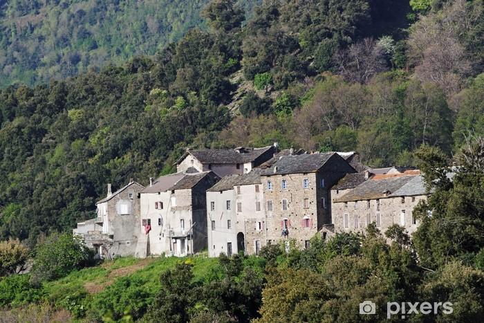Vinylová fototapeta Village traditionel Corse - Vinylová fototapeta