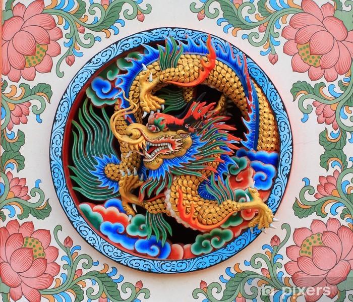 Papier peint vinyle Chinois dragon - Thèmes