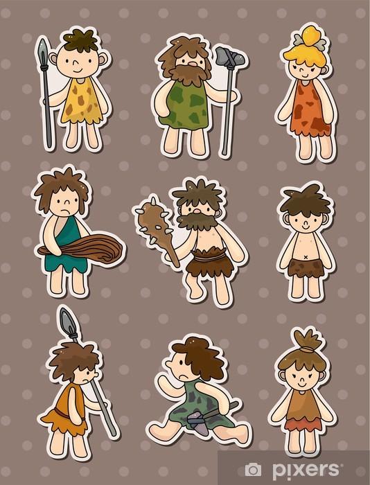 Vinilo Pegatinas De Dibujos Animados Hombre De Las Cavernas Pixerstick