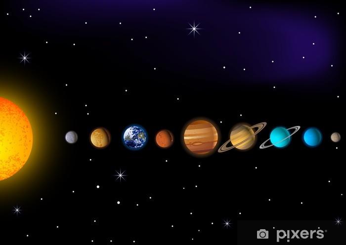solar system Pixerstick Sticker - Universe