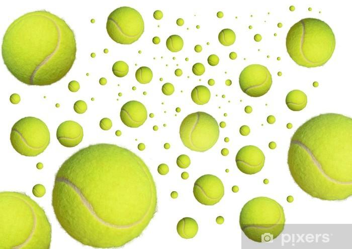 Fototapeta winylowa Piłki tenisowe w niebie jak planet - Tenis