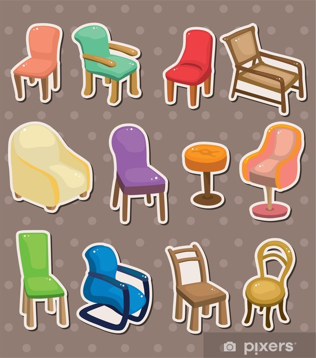 Papier peint vinyle Autocollants chaise - Bonheur