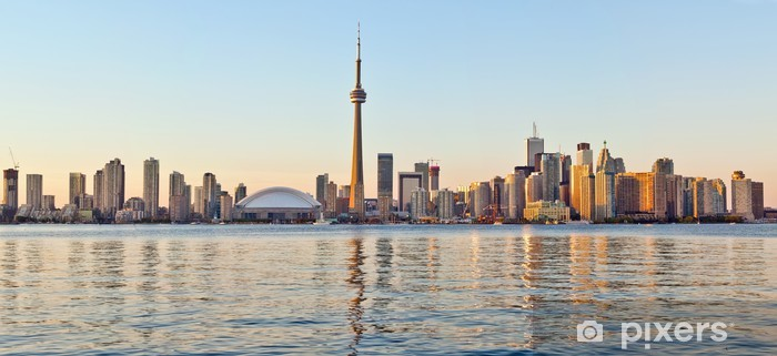 Fotomural Estándar Rascacielos del centro de Toronto Skyline Tower - América