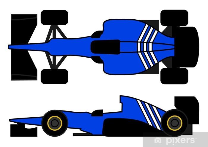 Fototapeta winylowa Niebieski samochód wyścigowy - Mecze i zawody