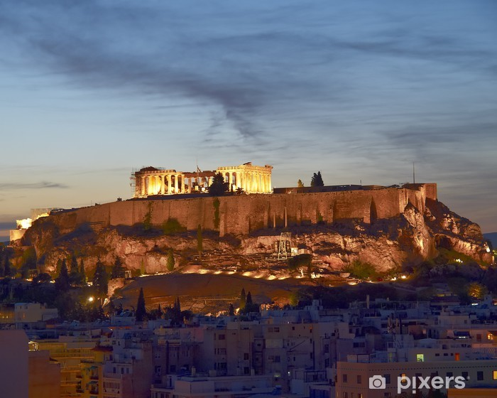 Fotomural Estándar Acrópolis iluminada, Atenas Grecia - Temas