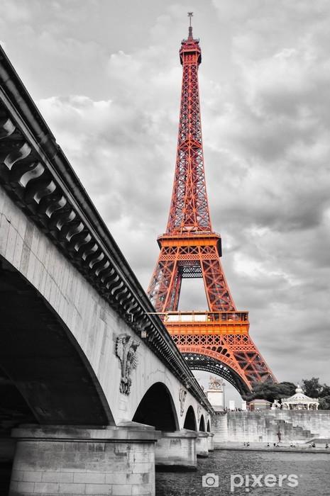 Fototapeta winylowa Wieża Eiffla i czerwony monochromatyczny - Style