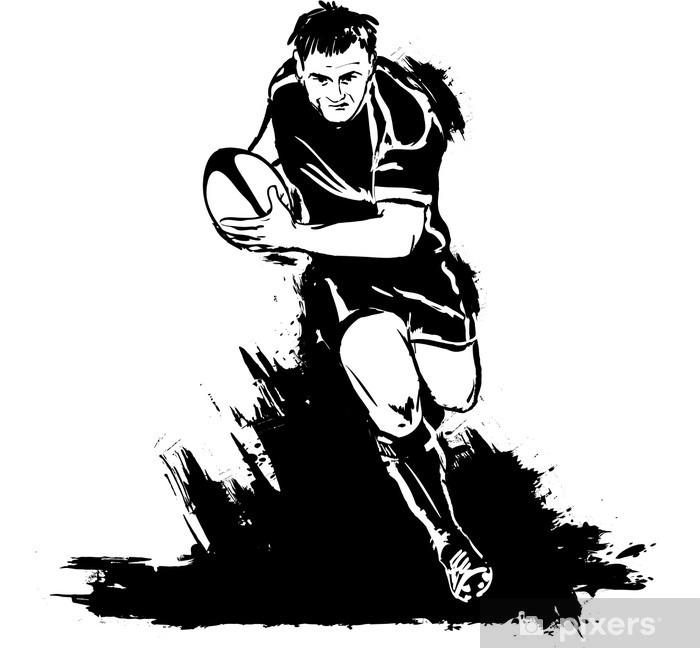 Fototapeta winylowa Działa w rugby z piłką - Rugby