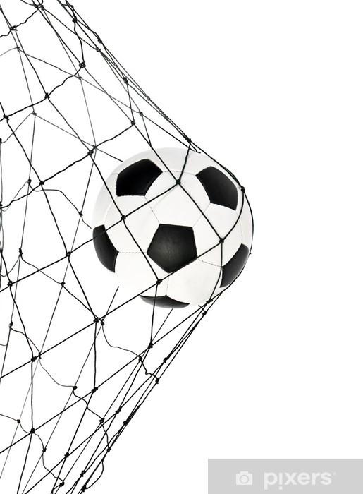 soccer ball in the net gate Pixerstick Sticker - Wall decals