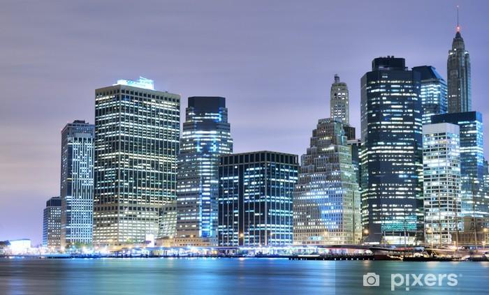 Vinyl Fotobehang Manhattan skyline van downtown - Manhattan