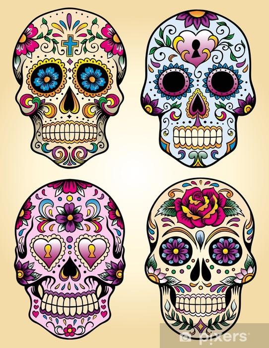 Sticker Pixerstick Journée de l'ensemble illustration vectorielle morts - Styles