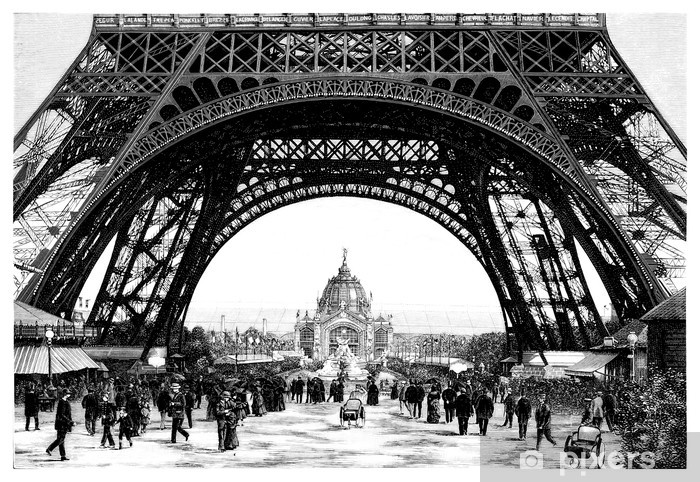 Paris - Eiffel Tower - 19th century Vinyl Wall Mural - Themes