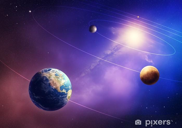 Naklejka Pixerstick Planety wewnętrzne Układu Słonecznego - Wszechświat