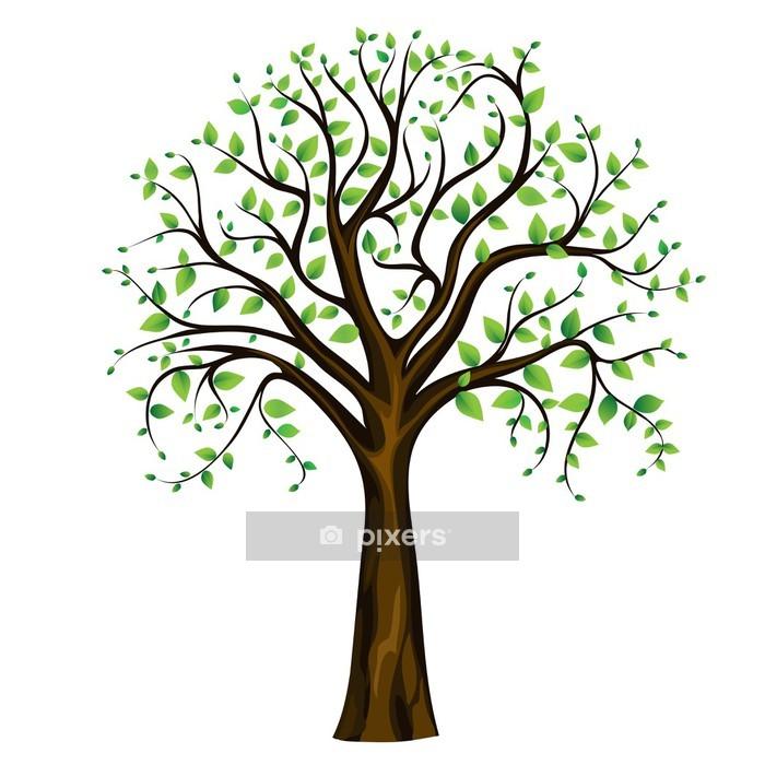 Vinilo para Pared Spring tree, vector - Vinilo para pared