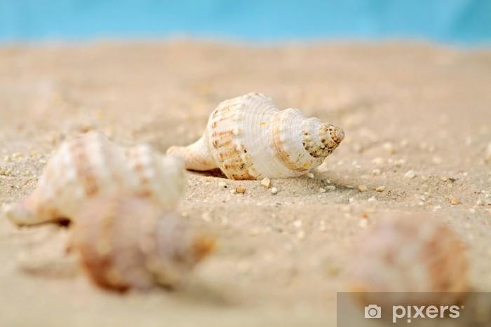Sticker Pixerstick Escargots de mer dans le sable - Vacances