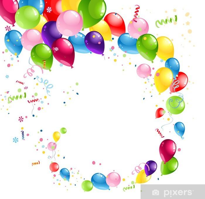 Sticker Pixerstick Tourbillon ballons - Célébrations