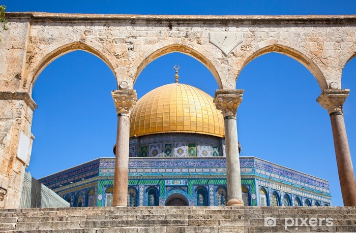 Vinyl Fotobehang Gouden Koepel van de Rots-moskee in Jeruzalem, Israël. - Thema's