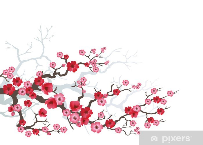 Papier peint vinyle Branch_sakura-03 - Arbres