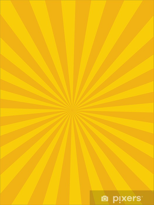 Vector Circus background, Yellow-Orange, Sun light Pixerstick Sticker - Backgrounds