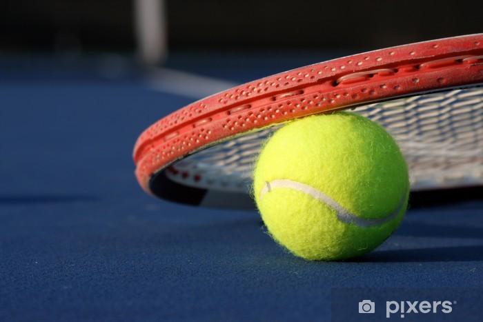 Fototapet Tennis boll och racket • Pixers® - Vi lever för förändring 3fb5ea7e60f1a